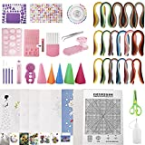 Toolly Paper Quilling Kit with 1860 Strips and Quilling Tools and Storage Box, Great for Beginners, Advanced Quiller, Kids and Adults