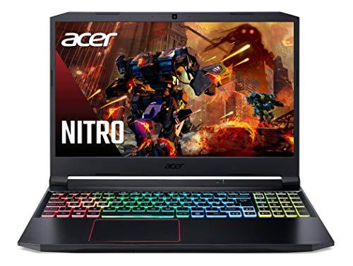 "Acer Nitro 5 - Ordenador portátil de 15.6"" FHD (Intel Core i7-10750H, 16 GB RAM, 1024 GB SSD, NVIDIA GeForce RTX 2060 6 GB, Sin Sistema Operativo) Negro - Teclado QWERTY Español"
