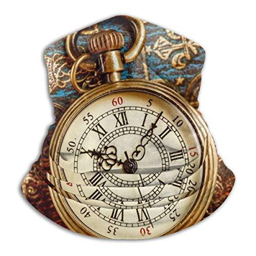 AEMAPE Vintage Antiguo Reloj de Bolsillo Cuello Polaina Calentador Hombres Mujeres cálido a Prueba de Viento Invierno Cara Sombreros