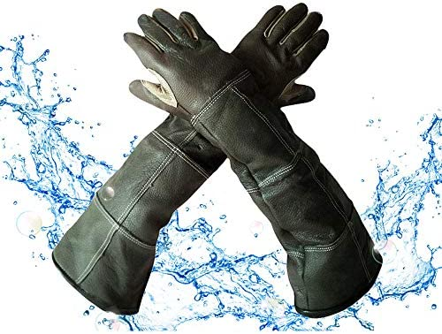 YBB Waterproof Animal Handling Gloves Leather Anti Scratch Bite Long Sleeve Protective Gloves product image