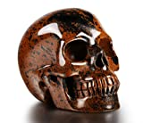 Beautifully Carved: Natural gemstone sculpted with our exclusive Realistic crystal skull design (Unite State Black Obsidain). A Breathtaking Display: Ideal for display on any mantel, table or shelf, this crystal skull brings elegance, style, and soph...