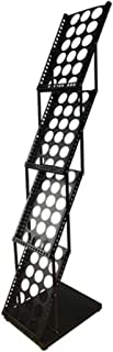 WSHZ Titular Catálogo portátil, práctico para folletos Expositor con 4 Folleto A4 Pockets Excelente Permanente, Sala de Ahorro, Steady Construido de Aluminio sólido,