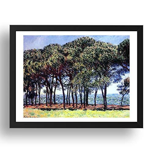 Period Prints Claude Monet Cadre Motif sapins Cap dAntibes 1888 17 x 13 (A3)