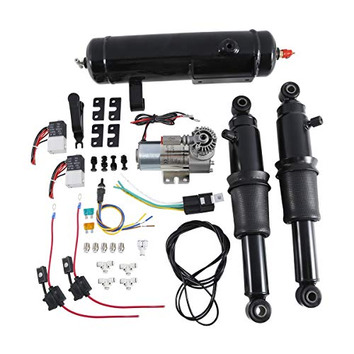 XFMT Rear Air Ride Suspension Kit W/Air Tank For Harley Touring Road King Street Electra Glide 1994-2020