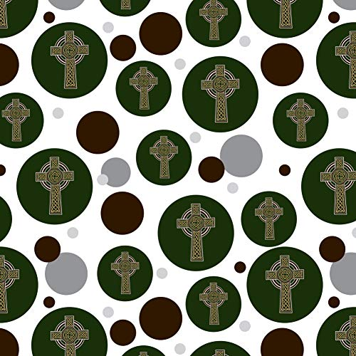 GRAPHICS & MORE Celtic Christian Cross Irish Ireland Premium Gift Wrap Wrapping Paper Roll