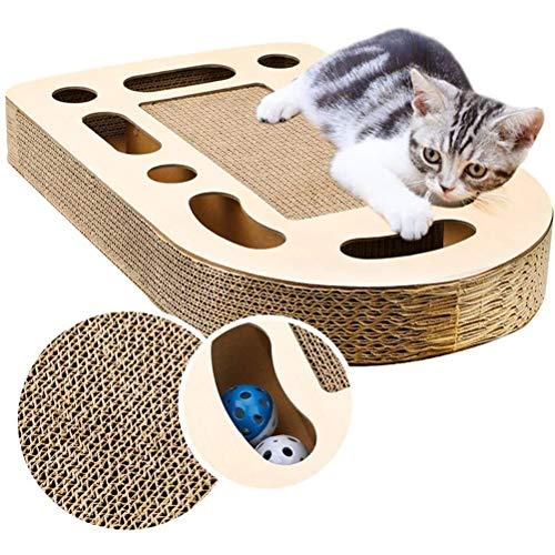 XIANGBAO Haustier-Spielzeug-Katze Scratcher Corrugated Papier Drehscheibe Wear-Resistant Cat Glocke Rubbing Spielzeug für Molar Unterhaltung für Haustier-Katze