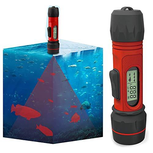 Finder de pescado de hielo de profundidad de mano, rango de posicionamiento de sonar de alta precisión, alarma de pesca con pantalla LCD, buscador de profundidad inalámbrica portátil, para pesca en el