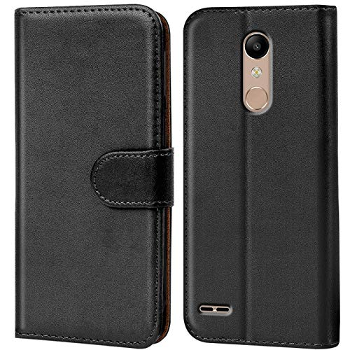 Verco Funda para LG K11, Telefono Movil Case Compatible con LG K11 Libro Protectora Carcasa, Negro