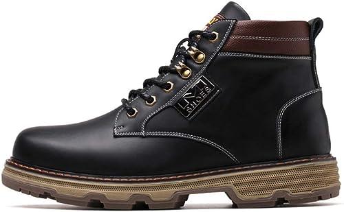 Qiusa Botines Casuales para Hombre botas con Suela Suave y Antideslizante duRuedaas y Suaves (Color   negro, Tamaño   EU 39)