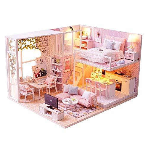 DIY Cottage Hut kleines Haus Puppenhaus aus Holz manuelle Montage Dekoration Urlaub Geburtstagsgeschenk ein abgelegenes und ruhiges Leben