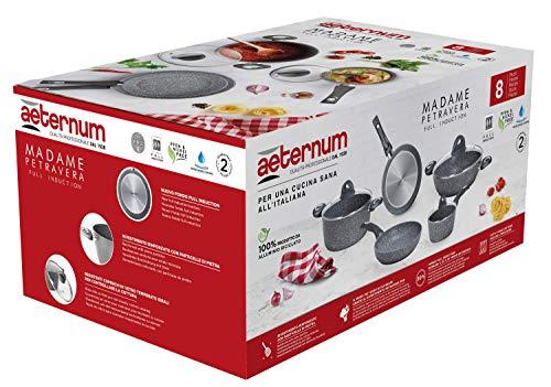 Aeternum Madame Petravera 3.0 Set Batteria di Pentole e Padelle, Alluminio, Adatte all'induzione, 8 Pezzi