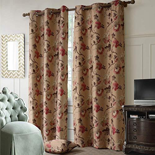 cortinas marrones opacas