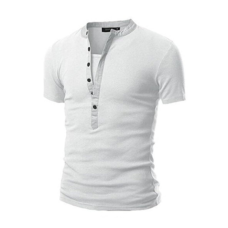 Frunalte men T Shirts, Clearance Tees Shirt Teen Boy Short Sleeve Blouse Men's Casual Slim U-Neck T Shirt Top Blouse