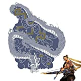 Hanzo Arm Temporary Tattoos Stickers - Full Arm & Bicep, OW Cosplay Waterproof Paint Cosplay Costume Accessories