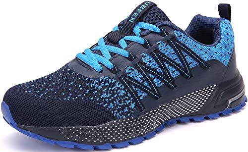 SOLLOMENSI Laufschuhe Damen Herren Sportschuhe Straßenlaufschuhe Sneaker Joggingschuhe Turnschuhe Walkingschuhe Schuhe 42 EU H Blau
