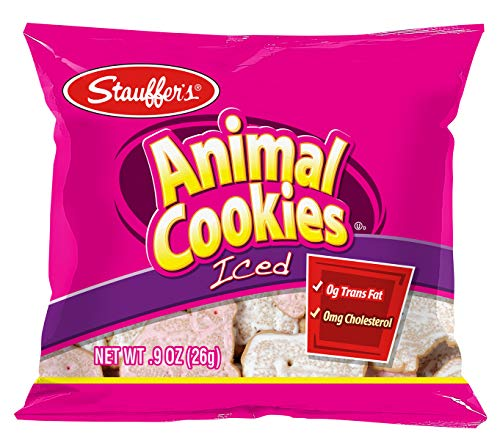 Stauffer's Iced Animal Cookies - Individually Packaged Mini Snack Packs Iced Animal Cookies, .9 Oz. Each (Set of 20)