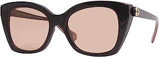 Gucci GG 0921S 003 Black Plastic Rectangle Sunglasses Orange Lens