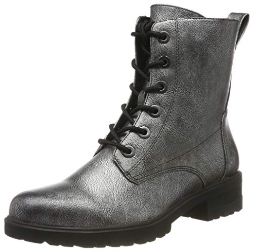Tamaris Damen 1-1-25280-23 Combat Boots, Silber (Dark Pewter 990), 39 EU
