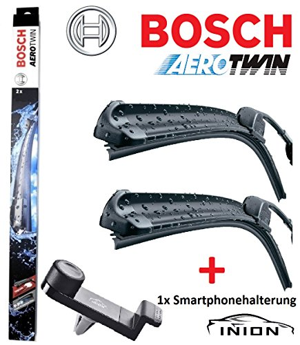 Preisvergleich Produktbild Bosch Aerotwin Scheibenwischer Wischblatt Satz Nachrüstungsset AR552S,  3397118984 + INION® Händyhalterung für Lüftungsgitter