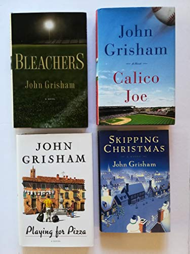 Set of 4 Sports and Life Stories by John Grisham: Calico Joe, Bleachers, Playing for Pizza, and Skipping Christmas