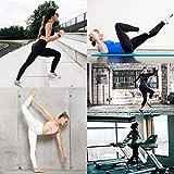Damen Leggings Sporthose mit Hohem Bund - Yogahose Laufhose Fitnesshose Leggins Yoga Sport Leggings Tights für Damen zum Laufen, Radfahren, Fitness (2er Pack- Schwarz& pflaume, Plus Size(DE 42-48)) - 2
