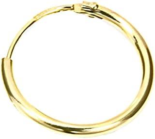 585 Gold Creolen petite charnière Creolen 10,7 mm x 2,0 mm 1 paire