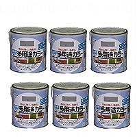 アサヒペン 水性多用途カラー 1.6L グレー 6缶セット
