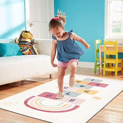 SHACOS Children Area Rug Kids Nursery Carpet Play Mat 80x160 cm Cotton Rug Crawling Mat Toddler Playmat Soft Non Slip Floor Mat for Boys, Girls, Playroom, Bedroom