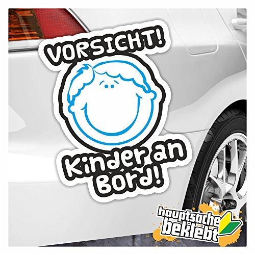Kiwi Star Vorsicht. à bord autocollant enfant Multicolore Stickers fun Sticker Colored 13 x 10 cm