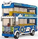 Las pequeñas partículas ensamblaron el Juguete del autobús del Transporte del autobús de la Ciudad de los Bloques de construcción