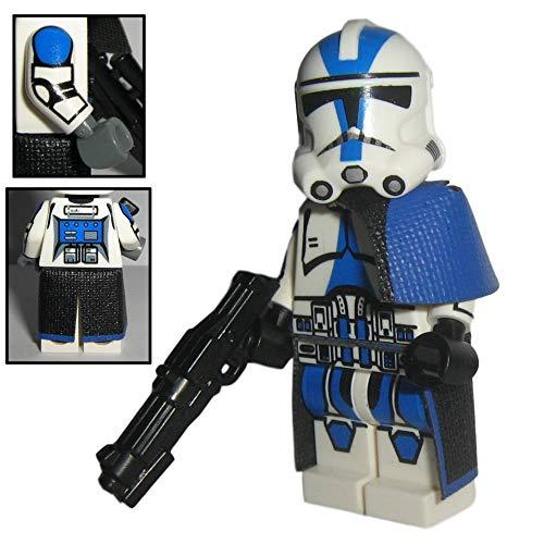 Custom Brick Design 501st Legion Clone Trooper Figur V.2 - modifizierte Minifigur des bekannten Klemmbausteinherstellers und somit voll kompatibel zu Lego