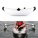 PQXOER Barca Hinchable 2pcs PVC Barco Inflable Kayak Canoa de Soporte Barco Permanente Flotador estabilizador de pie Flotador Boya for el Salto de Apnea de Pesca submarina Snorkel
