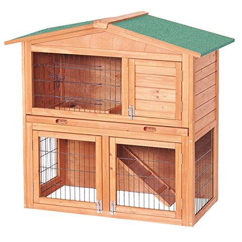 Capanna a due piani per piccoli roditori. Gabbia per conigli