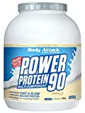 [page_title]-Body Attack Power Protein 90, Vanille, 2 kg, 5K Eiweißpulver mit Whey-Protein, L-Carnitin und BCAA für Muskelaufbau und Fitness