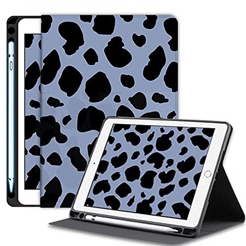 SsHhUu iPad 9.7 2018/2017 Funda Case, Case Ultra Slim Carcasa Smart Cover PU Protector con Función Soporte Auto-Sueño/Estela para iPad 9,7 Pulgadas (6. Generacion/ 5. Generacion), Punto Azul