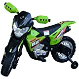 HOMCOM Children Motorbike Toy Kids Ride On Car Electric 6V Battery 4-Wheel Green