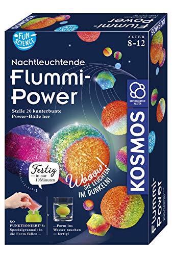 Kosmos 654108 Fun Science - Nachtleuchtende Flummi-Power, Stelle 20 kunterbunte Power-Bälle her, Experimentierset für Einsteiger: Experimentierkasten
