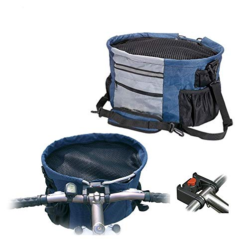 """Walky Basket Pet Dog Bicycle Bike Basket & Carrier Easy Click Release Mounting- Up to 15lbs 15.5"""" Wide x 10"""" Depth"""
