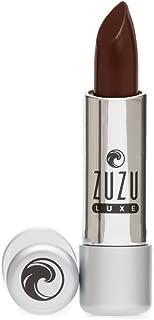 Zuzu Luxe Natural Lipstick Chocolate Cherry Reddish Brown Cool Cream