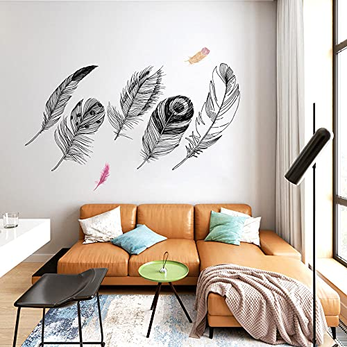 Pegatinas de pared de pvc ofrecen pegatinas versión plegable pegatinas de pared de plumas fondo de sala de estar decoración de pared pegatinas de pared 50 * 70 cm