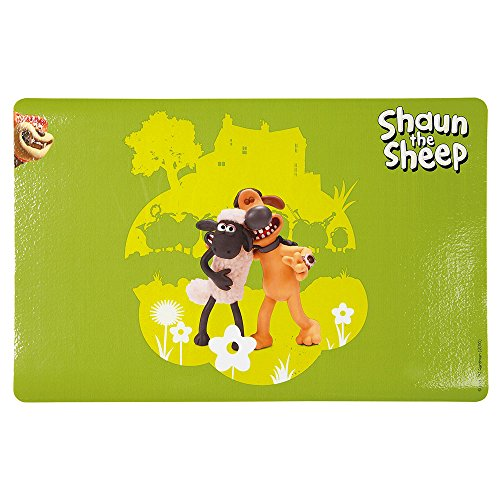 Trixie 24573 Shaun the Sheep Napfunterlage & Bitzer, grün
