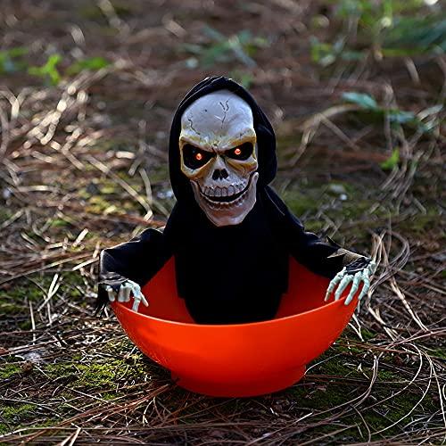 UJIKHSD Decoración De Halloween Control De Luz Eléctrica Inducción Placa De Fruta Fantasma Tricky Divertido Dispositivo De Terror Luminoso con Juguetes Musicales