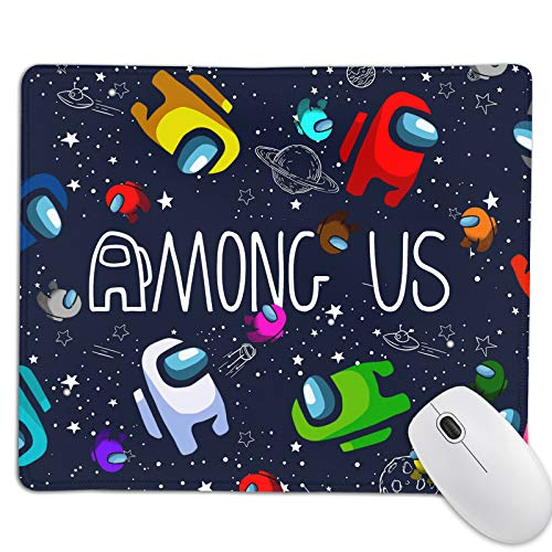 Akanarika A-mon-g U-s Mouse Pad with Non-Slip Waterproof Rubber Base for Office Working Studying Gaming 9.8'x11.8'