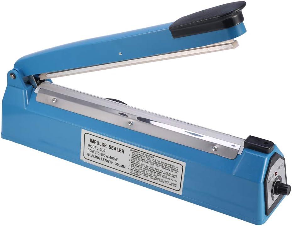 ChoJiah 12 inches inch Impulse Bag Sealer Poly Bag Heat Sealer Sealing Machine Heat Seal Closer with One Repair Kit