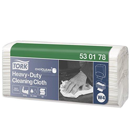 Tork 530178 Extra Starke Reinigungstücher für W4 Einzeltuch System / 1-lagige Putztücher in Weiß...