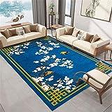 alfombra para silla gaming alfombras de salon modernas Alfombra china Alfombra de la sala de estar decoración azul abajo flores blancas cuadros decoracion salon grandes 180x250cm 5ft 10.9'X8ft 2.4'