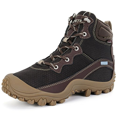 XPETI Women's Dimo Mid Waterproof Hiking Boot Trekking Outdoor Non Slip Boot Coffee 10