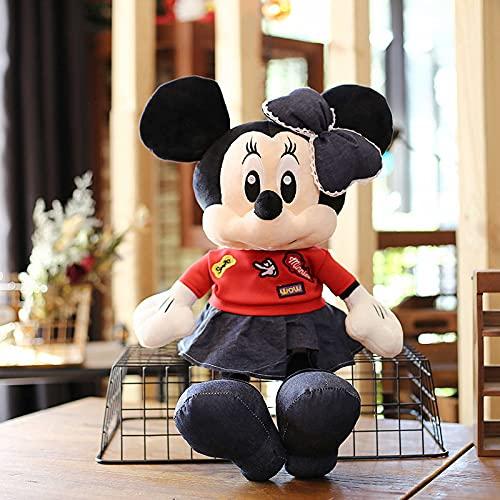 Lindo y Lindo muñeco de Peluche de Mickey Mouse, Almohada de muñeca de Trapo para niña de Mickey Minnie, Regalo de cumpleaños de Vacaciones para niños Minnie 75cm