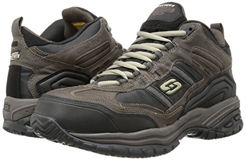 Skechers Men's Work Relaxed Fit Soft Stride Canopy Comp Toe Shoe, Brown/Black - 11 D(M) US