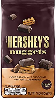 HERSHEY'S NUGGETS Extra Creamy Milk Chocolate with Toffee and Almonds, 10.56 Ounce